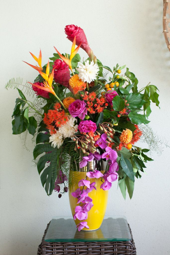 21 best images about vintage hawaii luau on pinterest for Flower arrangements for parties