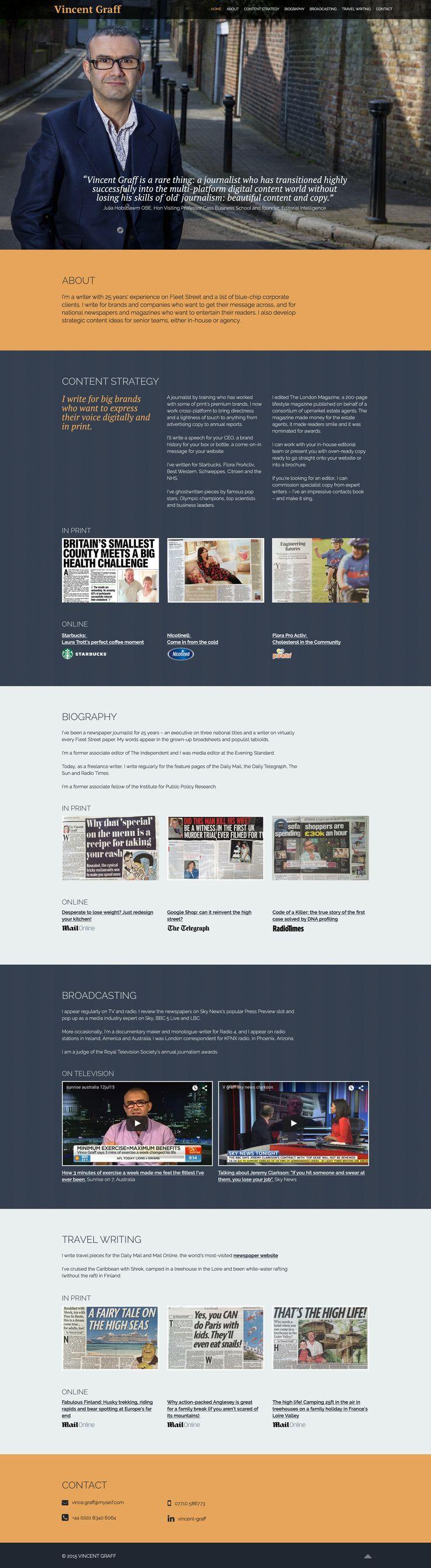 A new website for Vincent Graff