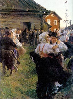 Midsummer Dance                                        Anders Zorn    - 1897