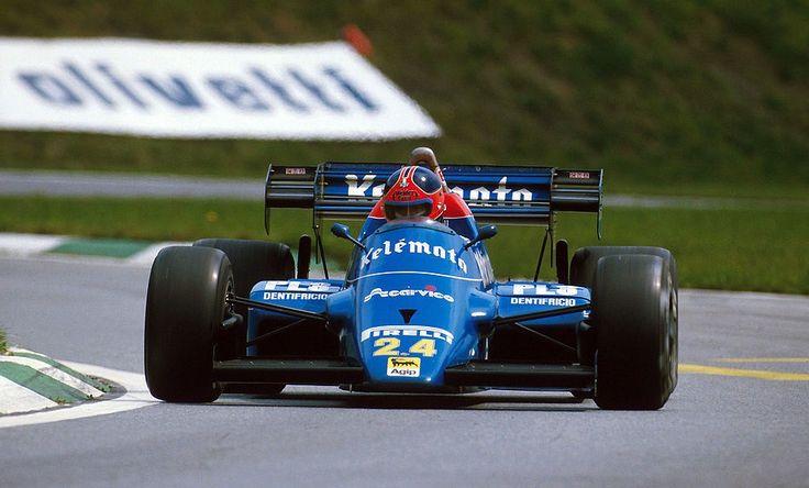 low rider … Piercarlo Ghinzani, Kelémoto Osella-Alfa Romeo FA1F, 1984 Austrian Grand Prix, Zeltweg