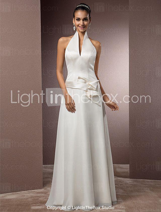 Lanting Bride® Eng anliegend Extraklein / Übergrößen Hochzeitskleid - Schick & ModernVintage Inspirationen / Rückenfrei / Einfach 2017 - €107.79