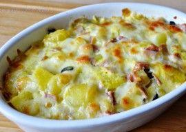 Cartofi cu mozzarella la cuptor