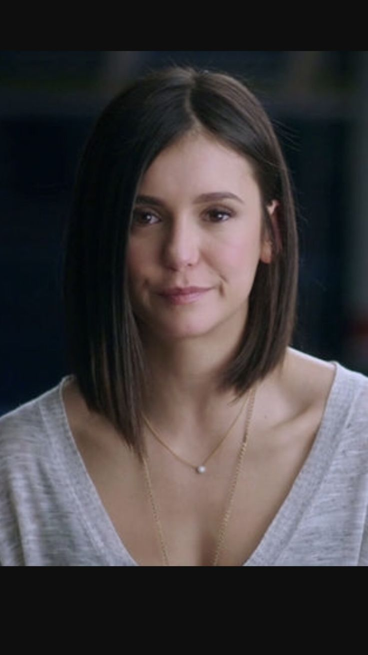 Nina Dobrev short hair