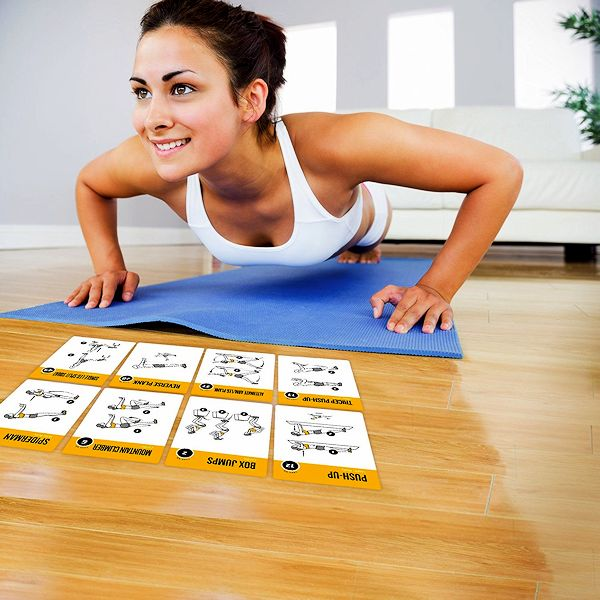 EXERCISE CARDS BODYWEIGHT Home Gym Workout Personal Trainer Fitness Program Guide Tones Core Abs Legs Glutes Chest Bicepts Total Upper Body Workouts Calisthenics...  fitnesstips #fitnesstipsforwomen #fitnesstipsteens #fitnesstipsforbeginners #healthtips #healthtipsforteens #healthtipswomen #fitnessandhealthtips