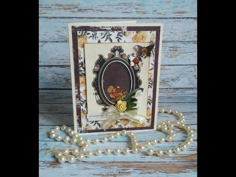 Vintage Shaker Card *Mirror, mirror on the wall...* (MakaArt) #6 - YouTube