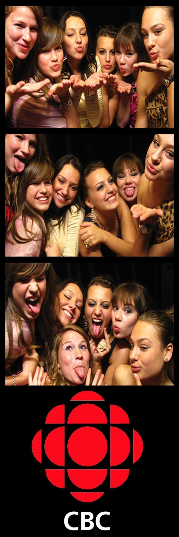2x6 photostrip layout with 3 photos. #evententertainment #spiceupyourworkevent #kisses