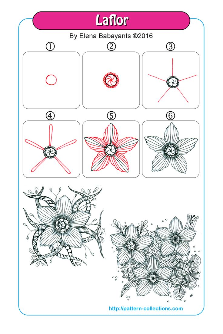 laflor tangle pattern -by-elena-babayants  PatternCollections.com