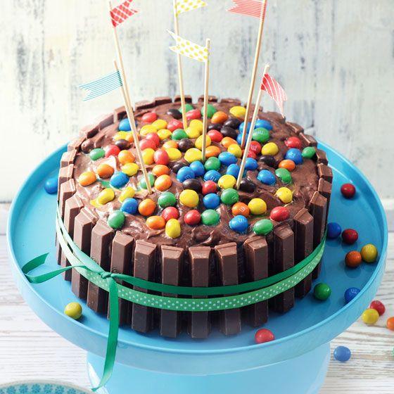 KitKat & m&m's taart. Deze moet ik dringend eens maken! ;-)