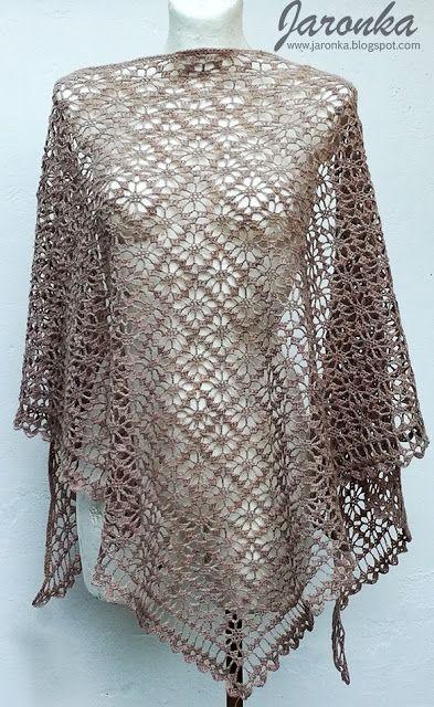 Hand made by Jaronka: Crochet grey flowers