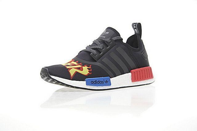 d6b50f834 New Mens Womens Adidas NMD R1 x Thrasher PK Shoes Black Red Blue Hot Sale