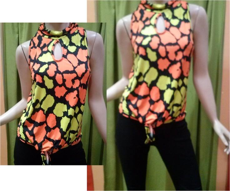 Blusa Estampado Neon REF: 12829. VENTA AL MAYOR, 3 piezas por Bs. 1.063,30