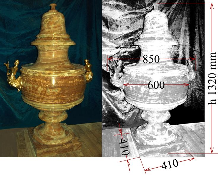 Grand scale Vase with lid, baroque style.   Onyx, polished. Plastic cast gilt decorations.  Measurements with lid: Height 1320 x Width 850 x Depth 600 mm  Weight approx. 90 kg. Term of this work is 3 months.  Location: Moscow. 7.000 EUR. Contact: artinform76@gmail.com
