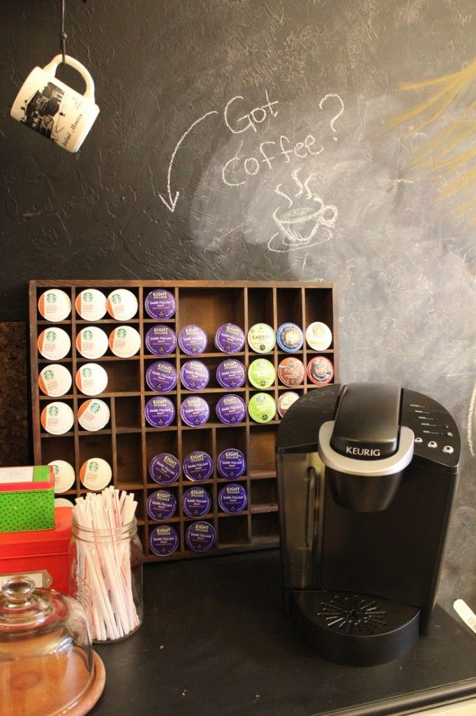 k cup storage from printer's tray @Jenny Maddox @cheryl ng ng ng ng Lawrence @Cindy Greer
