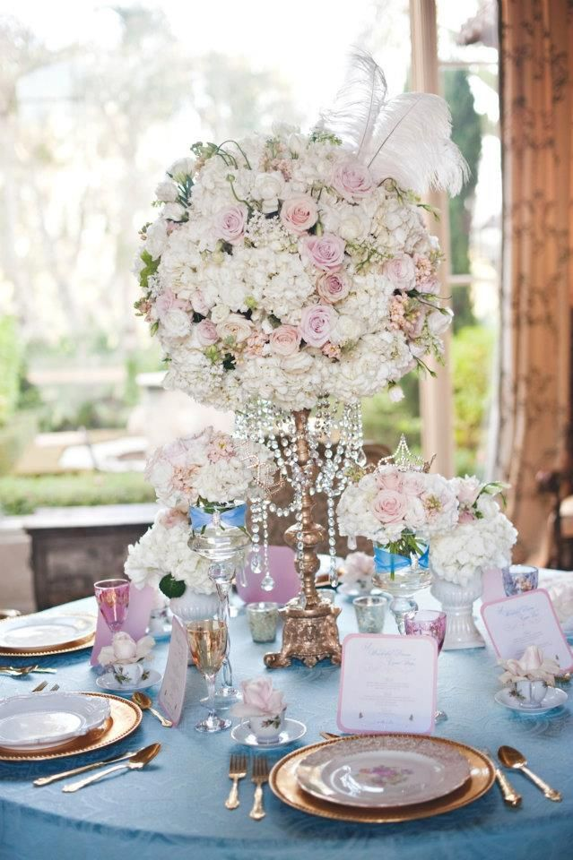 Via Disney Fairy Tale and Weddings - Cinderella Inspiration. I ADORE the centerpieces.