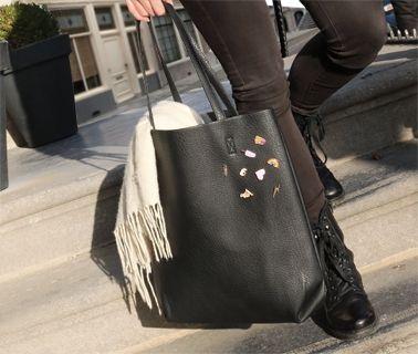 Nieuw online: Trendy Tas Shopper & hippe nieuwe Pins / Broches