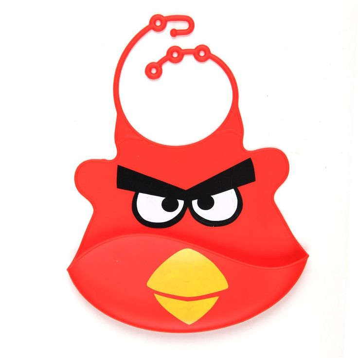 Angry Birds. Silicone Baby Bips. 98k