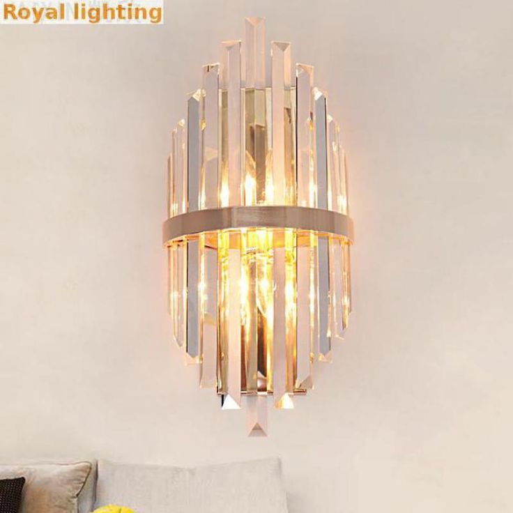 Hallway Indoor Long crystal wall lamp for Restaurant artwork Modern Designer salon mirror Crystal Led wall Light Arandela E14*2-in Wall Lamps from Lights & Lighting on Aliexpress.com | Alibaba Group