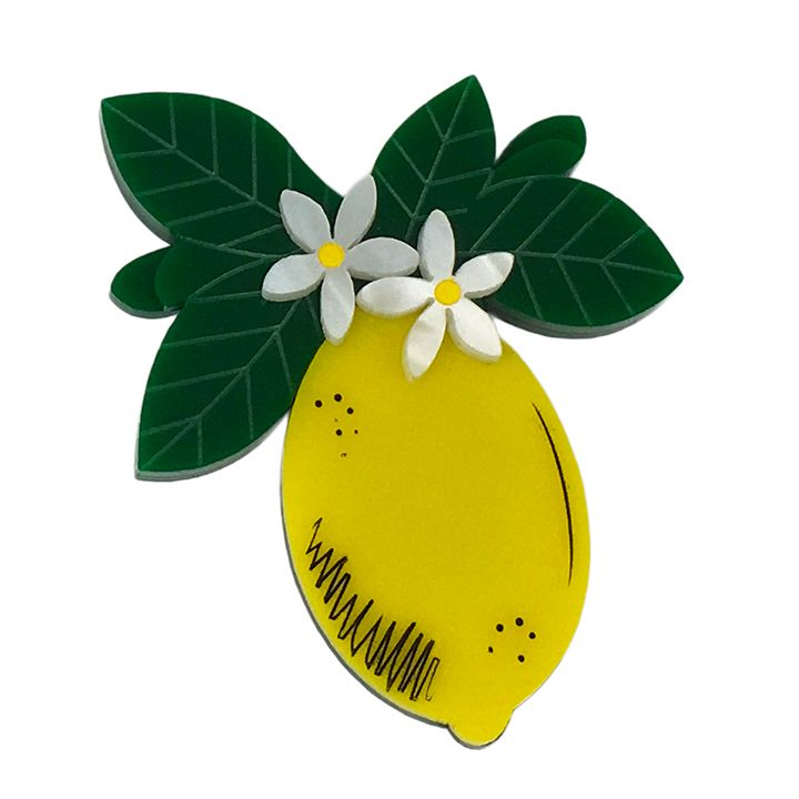 Peppy Chapette Lemon Blossom brooch by Louisa Camille