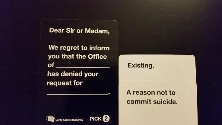 The 27 Most Offensively Funny Cards Against Humanity Answers Ever   CCUK
