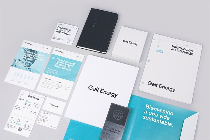 Logo and stationery with embossed paper and deep blind embossed finish for Galt Energy designed by Firmalt
