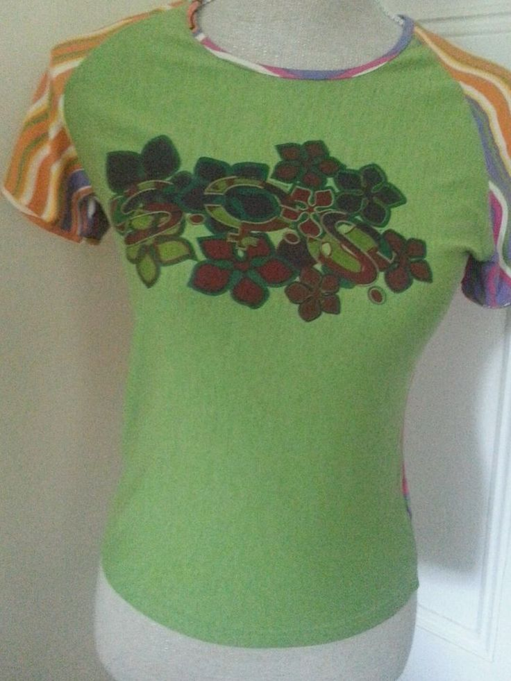 T shirt BNWT S.O.S ORZA STUDIO festival psychedelic hippy boho clubbing IBIZA 10 #VintageWardrobe #Tshir