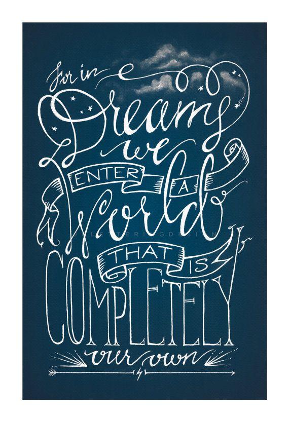Albus Dumbledore Dreams Quote Harry Potter by JBLetteringDesign