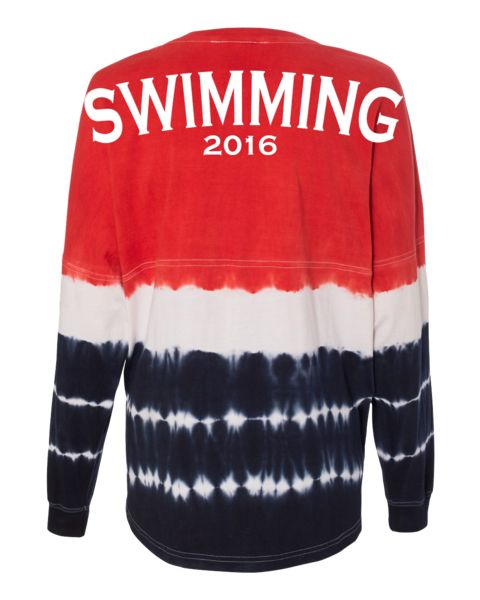 """Swimming"" USA Jersey - Red/White/Blue 