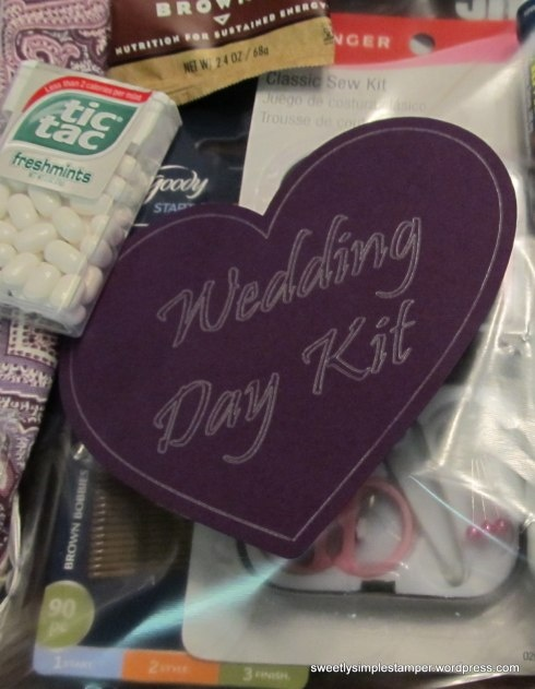 Wedding Day Kit for Bride (with an Elegant Tag): Sweetly Simple Stamper's Blog #silhouette