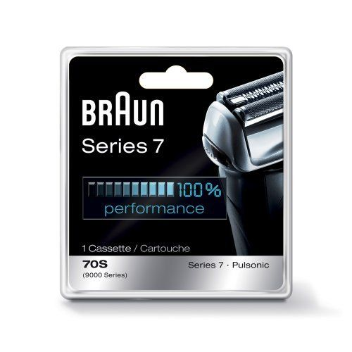 Braun Series 7 Combi 70S Cassette Replacement Pack (Formerly 9000 Pulsonic) by Braun. $33.99. Amazon.com Product Description      Braun replacement foil & cutter blocks help to maintain your shaver's maximum performance. Braun recommends changing your shaver's blades every 18 months as the cutting parts will gradually wear out over time, and your shave may become less close and comfortable. After replacing them you get back 100% of your shaver's performan...