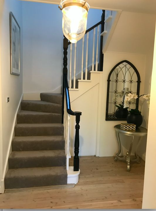 New painted balustrade with new carpet - styled by Ornella Botter Interiors/Style to Market