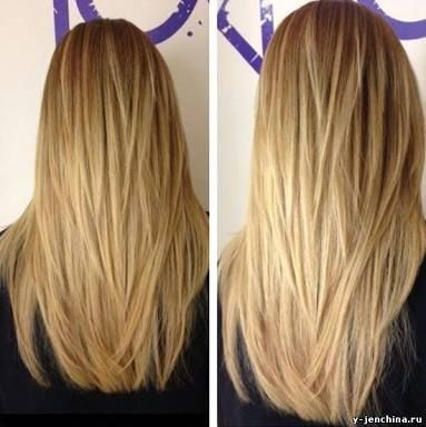 Стрижка длинные волосы каскад
