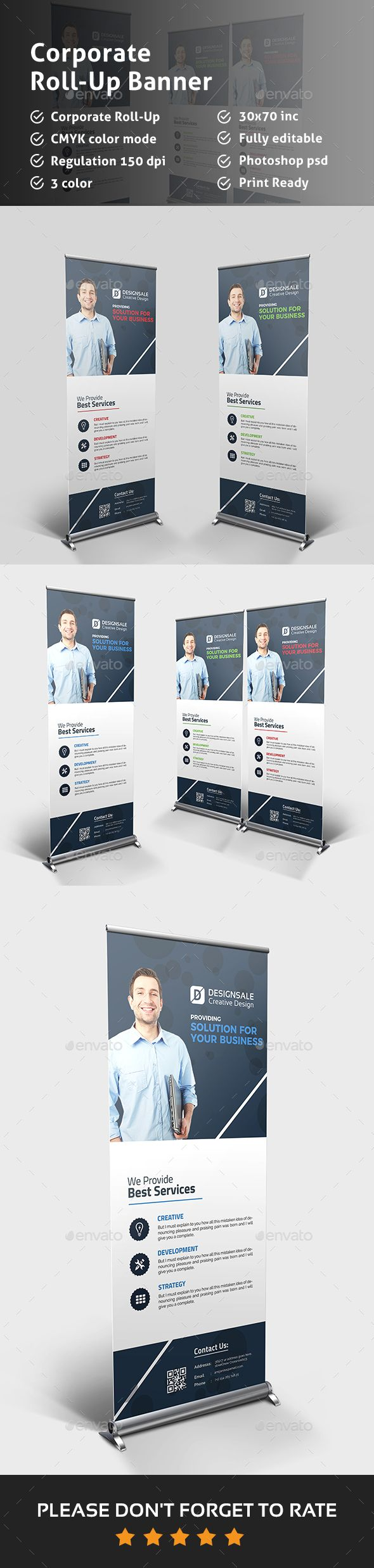 Corporate Roll-up #Banner - #Signage Print Templates Download here: graphicriver...