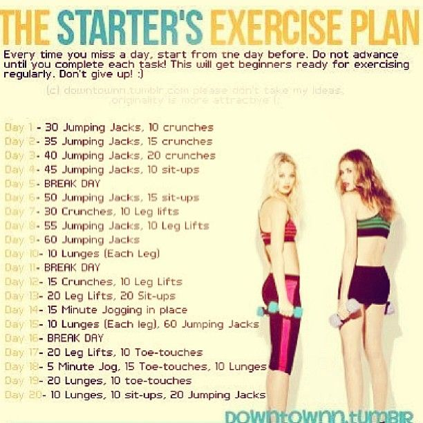 Best 25 Starter Workout Plan Ideas On Pinterest Starter