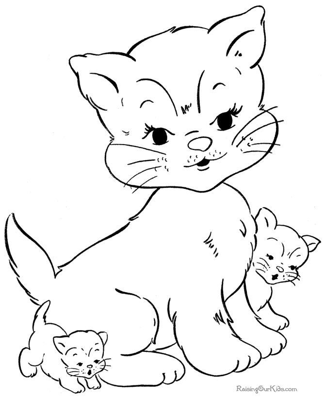 149 best Coloring Pages - Cats and Kittens images on Pinterest ...
