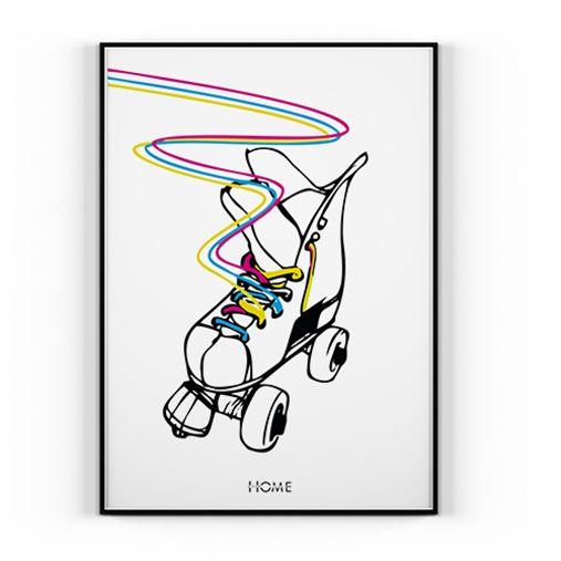Plakat RAINBOW ROLLER - 70x100cm - home dom design