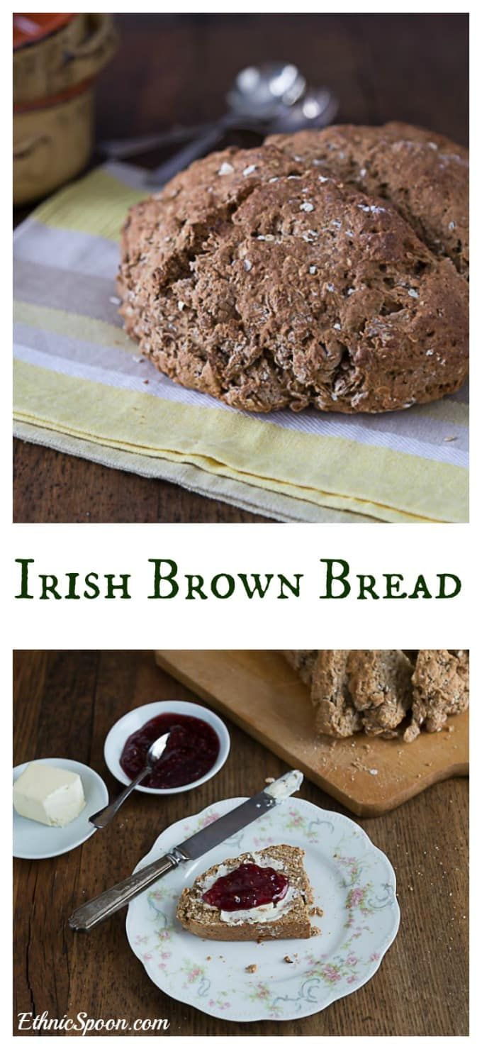 Irish brown bread made with soda, buttermilk and molasses. | ethnicspoon.com