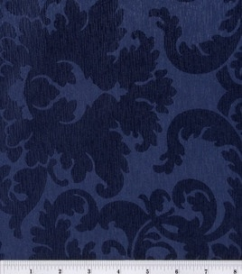 love this navy hued fabric, little feminine meets a little practical!