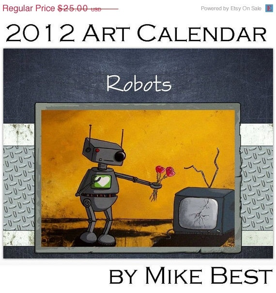 For my robot-loving husband. Think he'll actually hang it up at work?