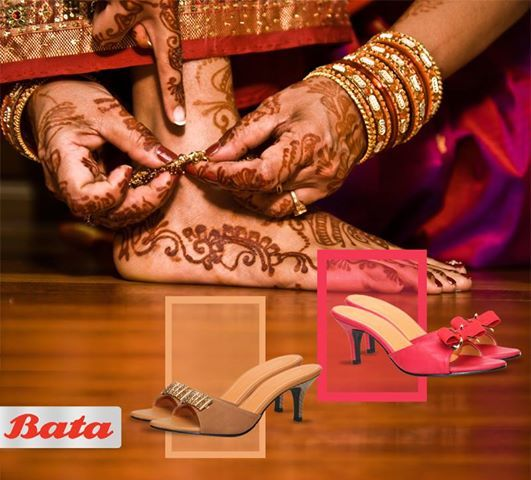Mehendi on your hands and sandals from Bata on your feet. That's the killer look for this wedding season. #BataWeddingFever