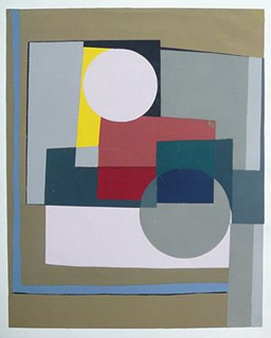 Ben Nicholson (1894-1982)  was a British painter of abstract compositions, landscape and still-life