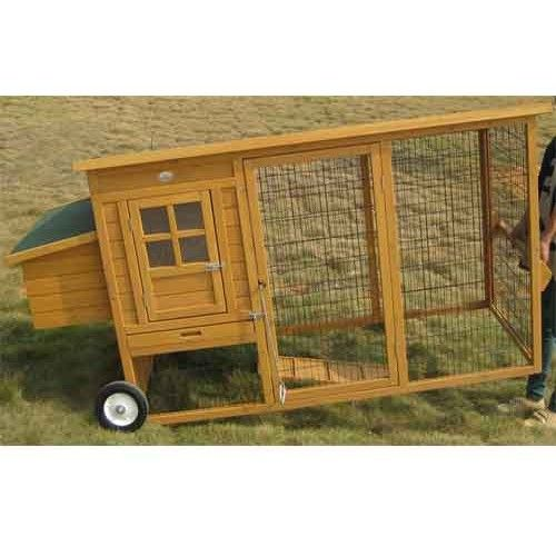 Chicken coops on wheels mayfair portable fox proof for Portable chicken coop on wheels