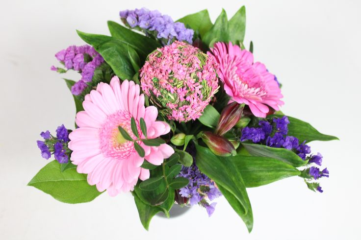 locally grown flowers are used in many of our floral petites