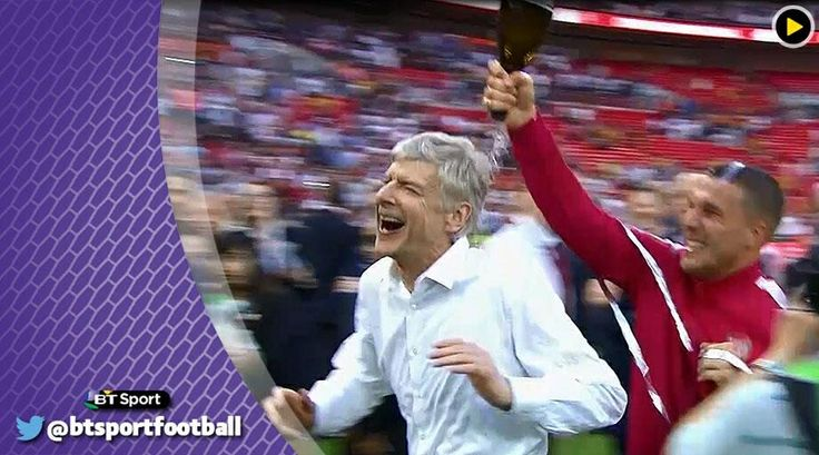 Wenger champagne moment