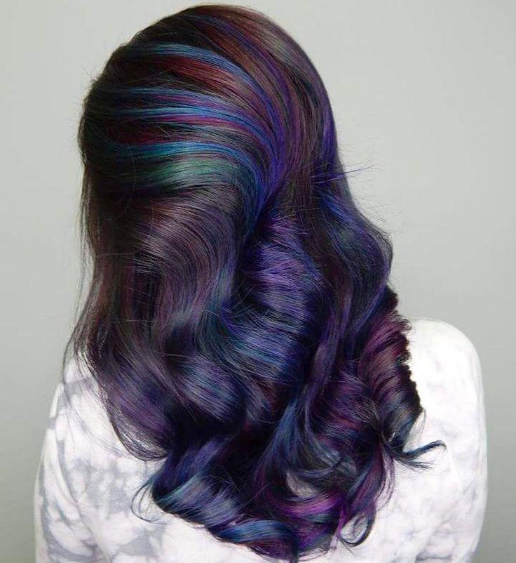 oil slick hair color diy - Google Search