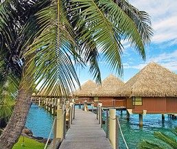 Paul Gauguin Cruise Special: roundtrip airfare to Tahiti from LA, 2 nights in an overwater bungalow in Tahiti, then a 7-night roundtrip cruise to Bora Bora, Moorea, and Taha'a. October 2014, about $6k/person.