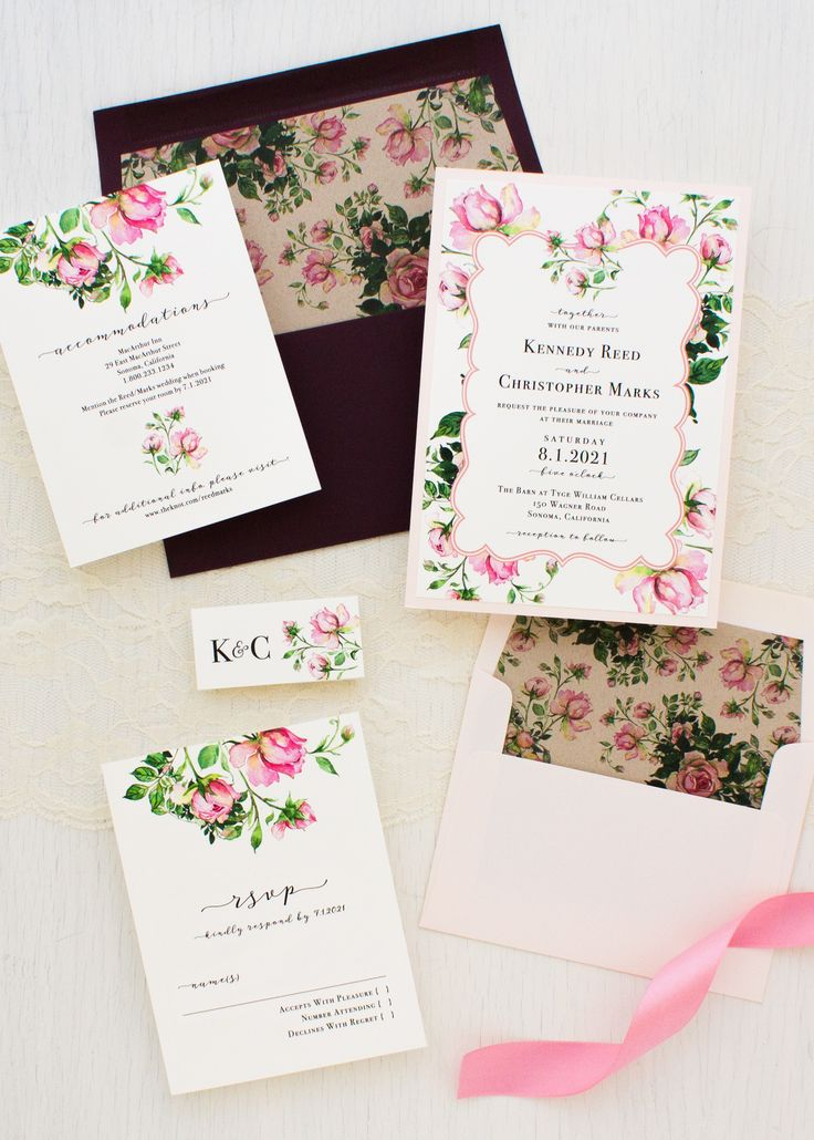tie ribbon wedding invitation%0A Dusty Rose Wedding Invitations
