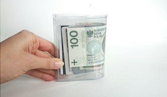 Clear cardholder transparent wallet vegan wallet by YPSILONBAGS