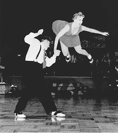 Swing c. 1950's. Looks sooo fun!!! I'll probably never get that good. Plus...I never have a partner that knows what he's doing. :P