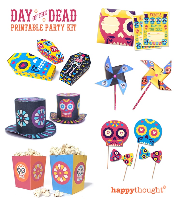 Celebramos! Dia de los Muertos $8 printable party kit (includes everything)!