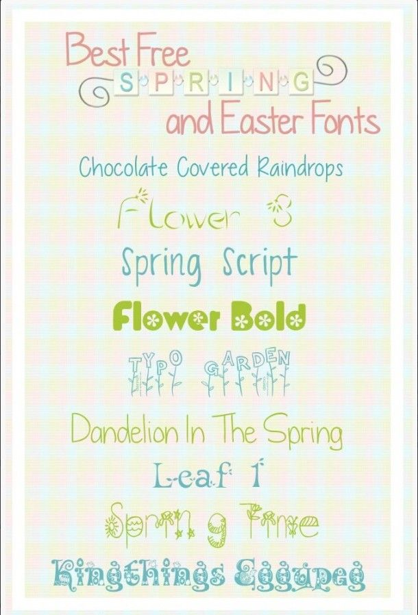 Free Fonts: Download Your Perfect Fonts for Spring